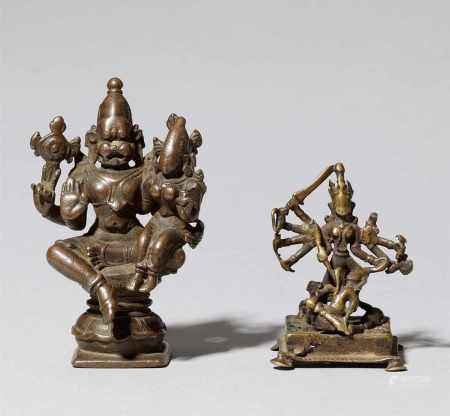Two Southern India copper alloy figures. 17th/19th century