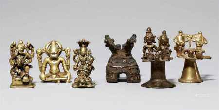 Three Central Indian copper alloy figures. 17th/19th century