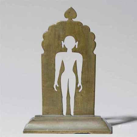 A brass Jain siddhapratima yantra. India. Early 20th century