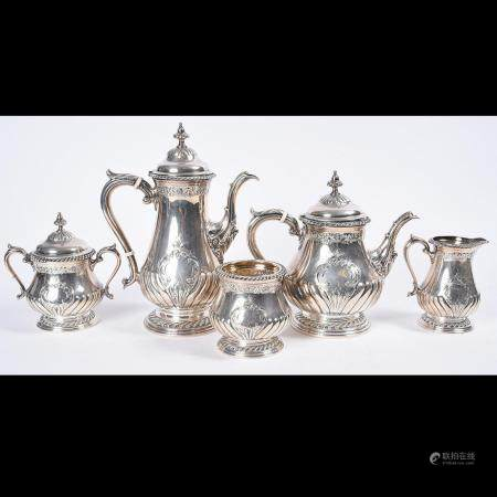 Shreve & Co. Sterling Silver FIve Piece Tea and Coffee