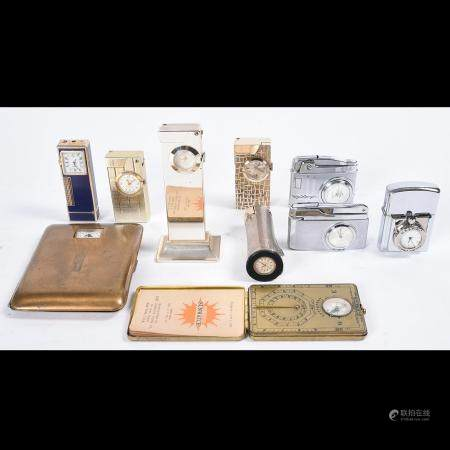 10 Combination Watch Lighter, Watch Cigarette Holders;