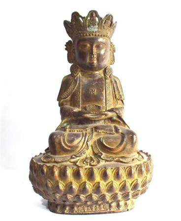 A Well-Cast Dark Bronze Alloy Bodhisattva, Impressed Seal Ma
