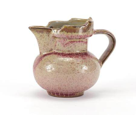 Chinese porcelain peach bloom glazed monks cap ewer, 11cm high :For Further Condition Reports Please