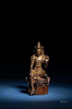 唐 銅鎏金觀音