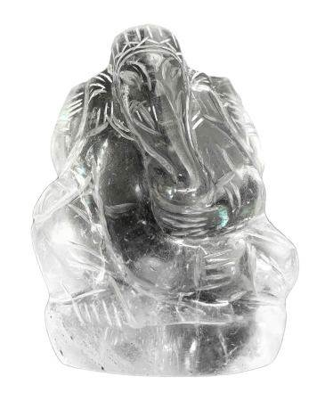"""Chinese statuette of rock crystal depicting """"Ganesha"""" (Hindu God of universal love). India. Early"""