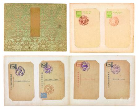 满洲国各式明信片 二册
