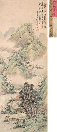顾鹤庆(1766~?)  山水 立轴 设色纸本