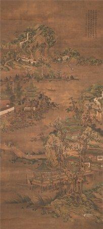 黄均(1775~1850)  山叠水复图 立轴 设色绢本