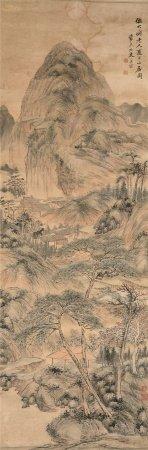 奚冈(1746~1803)  夏日山居图 立轴 设色纸本