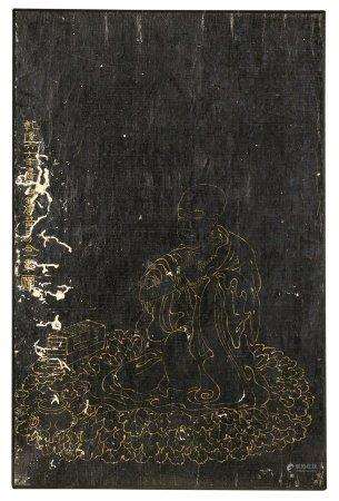 黄易(1744~1802)  描金罗汉 镜心 描金笺纸
