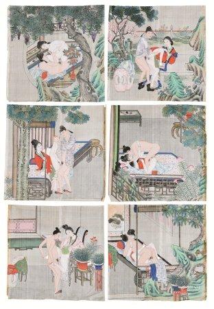 春宫图(无图) (六幅) 镜心 设色绢本