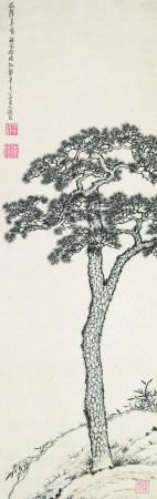 钱载(1708~1793)  古松图 立轴 水墨纸本