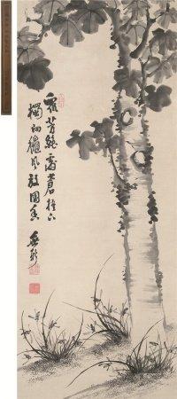 陈焯(1733~?)  梧桐兰之图 立轴 水墨纸本