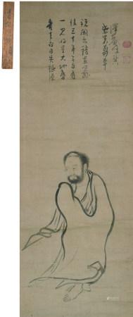 泽庵宗彭(1573~1645)  达摩 立轴 水墨纸本