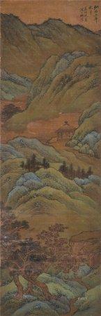 沈周(1427~1509)  青绿山水 立轴 设色绢本