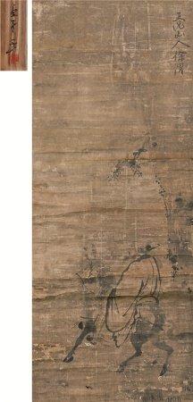 徐渭(1521~1593)  骑马人物 立轴 水墨纸本