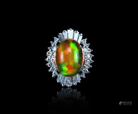 欧泊鑚石戒指