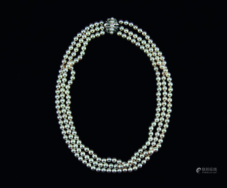 14K白金珍珠项链