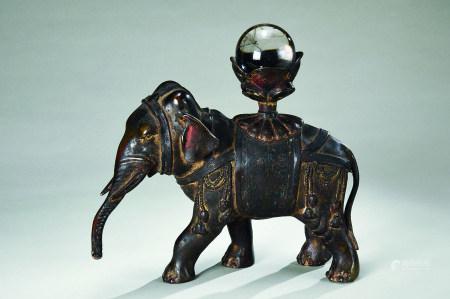 清代(1644~1911) 铜太平有象摆件