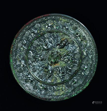 唐代(618~907) 铜海兽葡萄镜