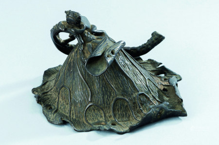 元代~明代(1279~1644) 铜蛙趣荷叶纹水滴