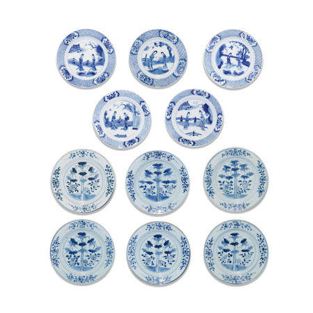A group of eleven export dishes Kangxi (11)