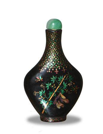 CHINESE LACQUER SNUFF BOTTLE, 18-19TH CENTURY
