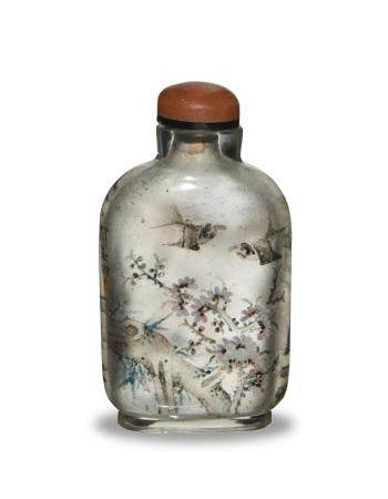 CHINESE INSIDE-PAINTED SNUFF BOTTLE BY YAN YUTIAN