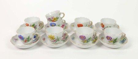 RESTSERVICE, Staatliche Porzellan-Manufaktur Meissen, Form Neuer Ausschnitt, Dekor Deutsche Blume, 9