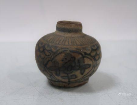 Vase Ming créé pour l'exportation. Hauteur 5,5cm