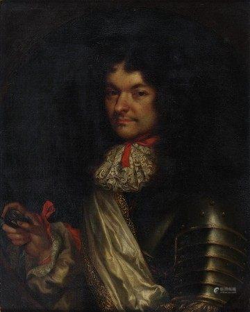 Attribué à Sébastien BOURDON (1616 - 1671) Portrait d'homme au médaillon dit de [...]