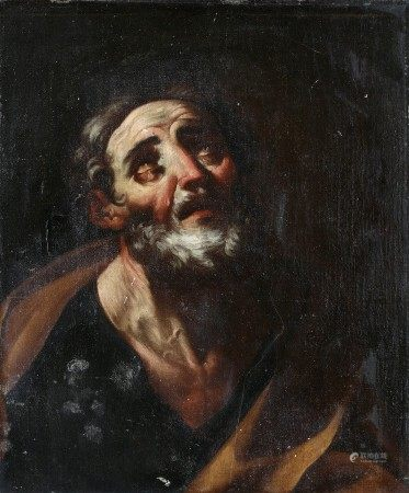 ECOLE ROMAINE vers 1700, suiveur de Giacinto BRANDI Le repentir de Saint Pierre Toile [...]