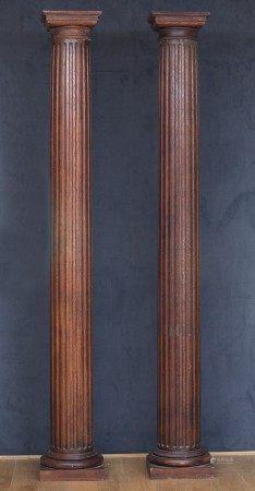 PAIRES DE GRANDES COLONNES à cannelures de Style Néoclassique XIXème Siècle [...]