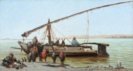 Léon Adolphe LEGENDRE (XIXème Siècle) L'embarcation sur la Felouque 1896 Toile [...]