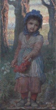 Karl BAUERLE (1831-1912) Late Autumn evening HUILE SUR TOILE Signée en bas à gauche [...]