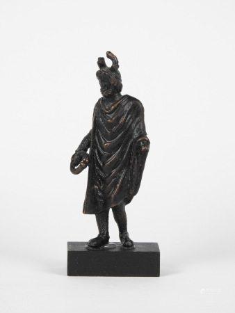 Dieu Cerninos.Style gallo-romain.Bronze ou alliage.En l'état.Manques visibles.H [...]