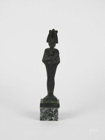 Dieu Osiris de la résurrection coiffe ornée de plumes d'autruche de la déesse [...]