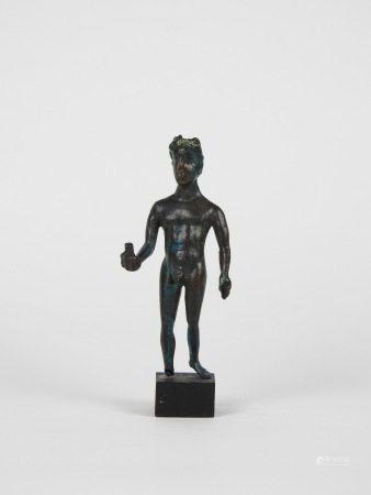 Statuette de jeune éphèbe, Ex voto de style gallo-romain probablement qui est une [...]