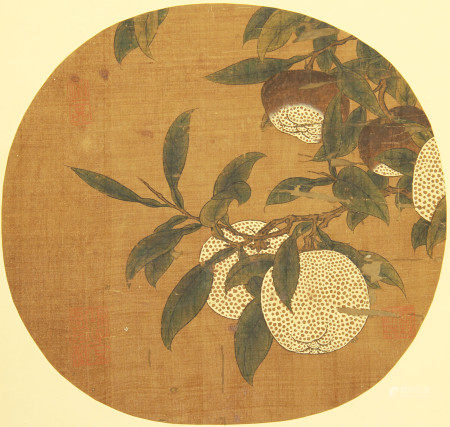 CHINESE SILK HANDSCROLL PAINTING OF FLOWERS