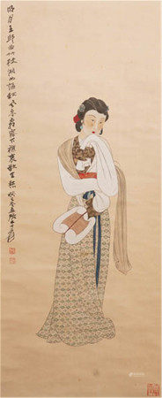 CHINESE FIGURE PAINTING OF ZHANG DAQIAN