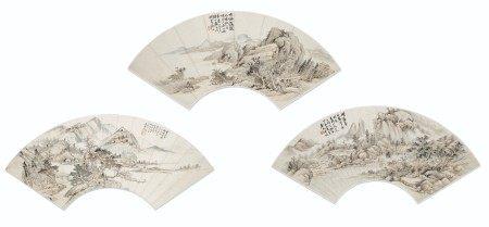 陆恢(1851-1920)/ 王凤孙(20世纪) 山水