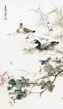 王雪涛(1903-1984) 逐戏图