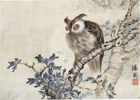 何漆园(1899-1970) 猫头鹰