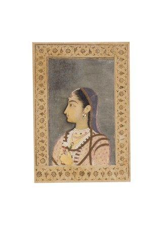A PORTRAIT OF A LADY INDIA, MUGHAL, CIRCA 1760