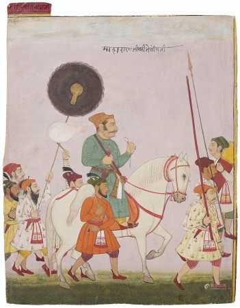 A PORTRAIT OF MAHARANA JAI SINGH OF MEWAR INDIA, JODHPUR SCHOOL, CIRCA 1720