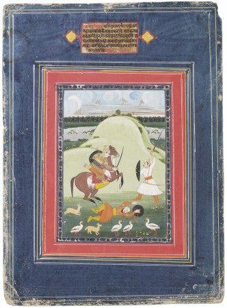 AN ILLUSTRATION FROM A RAGAMALA SERIES: NAT RAGINI INDIA, JAIPUR, EARLY 19TH CENTURY