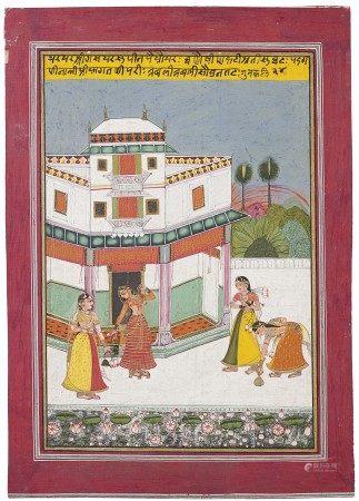 A ILLUSTRATION FROM A RAGAMALA SERIES: GUNKALI RAGINI INDIA, KOTAH SCHOOL, MID-18TH CENTURY