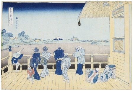 "KATSUSHIKA HOKUSAI (1760-1849) Gohyaku Rakanji Sazaido (The Sazai Hall of the Gohyaku Rakanji, ""Five Hundred Arhat temple"")"