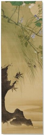 SHIBATA ZESHIN (1807-1891) Autumn Plants and a Cricket