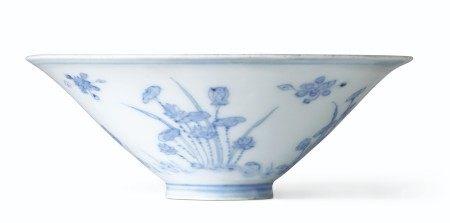 十七世纪 青花花卉纹笠式碗 17TH CENTURY
